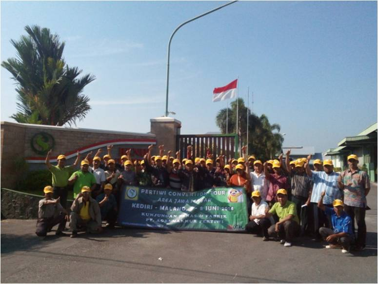 Kunjungan Petani dan Kios Jawa Tengah di Pabrik Pertiwi
