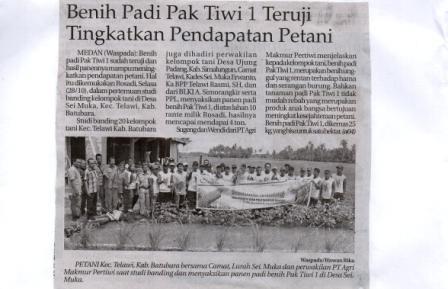 Pak Tiwi-1 Teruji Tingkatkan Pendapatan Petani